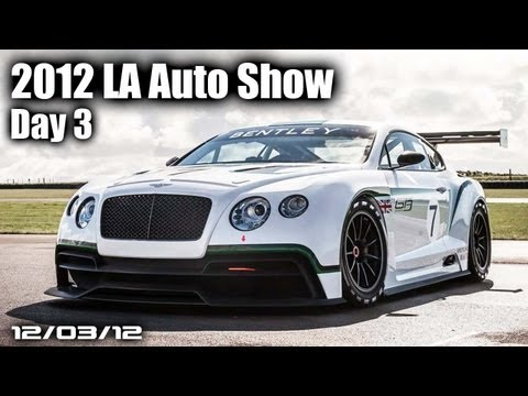 2012 LA Auto Show Day 3 - BMW i8 Roadster, Bentley GT3 Cup Car, Kia, &amp; More!