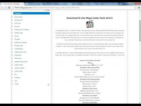 Download K-Lite Mega Codec Pack 10.8.5