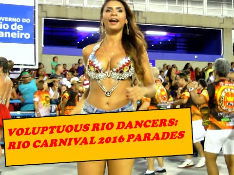 MODEL DANCE PERFORMANCE AT BRAZILIAN CARNIVAL PARADE: PERFECT CURVY BODY