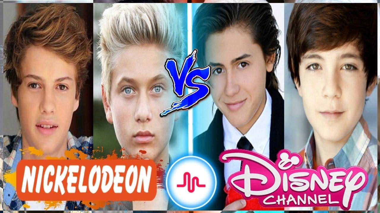 Nickelodeon Boys VS Disney Channel Boys Musical.ly | Top Celebrity Kids Musically Stars