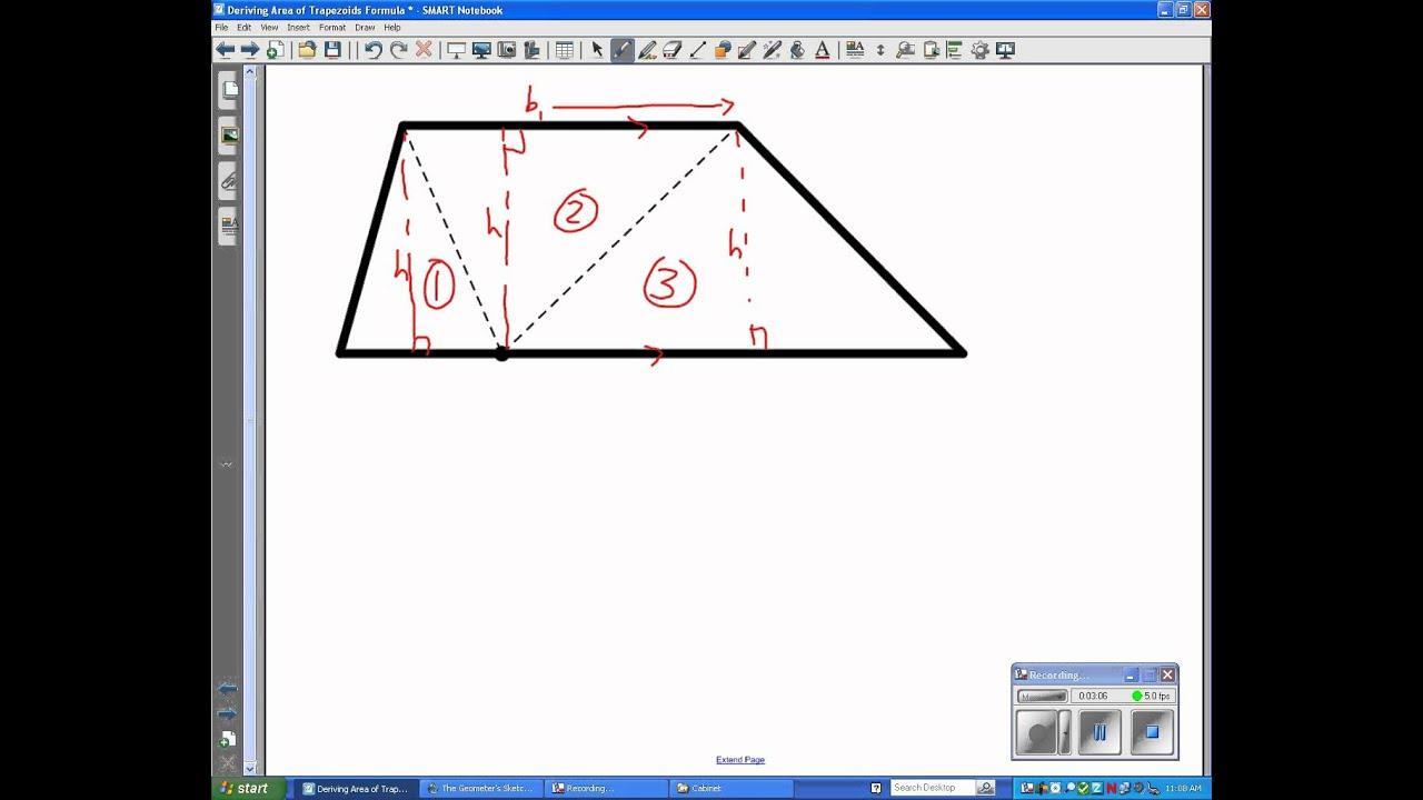 how to find the area and perimeter of a trapezoid
