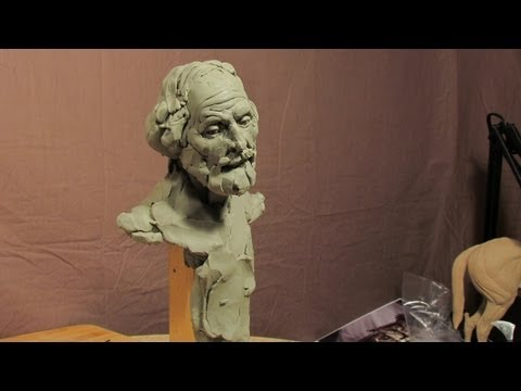 Sculpting With Lemon - Sculpture Depot and Chavant Clay - A Face Appears in Thin Air..kinda