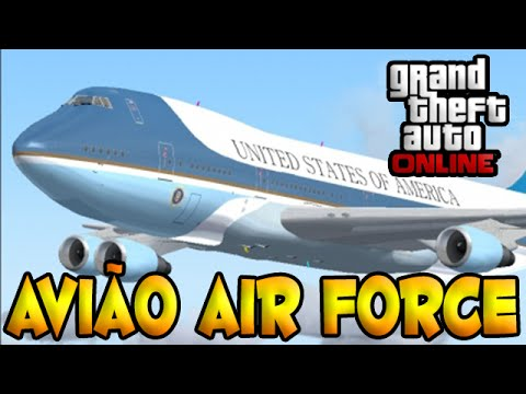Gta V Online Dlc Escola De Aviação Sa - Avião Air Force. video