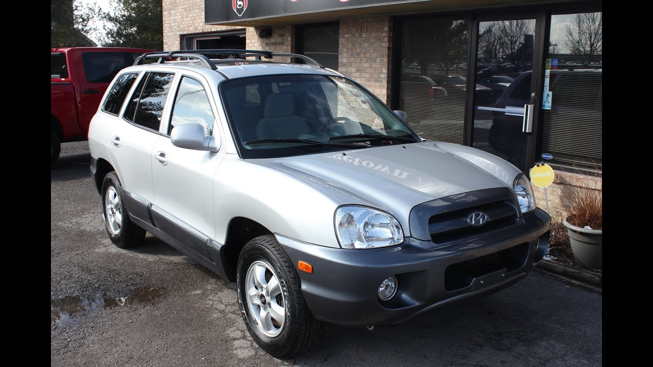 used 2005 hyundai santa fe gls sunroof for sale georgetown auto sales ky kentucky sold youtube. Black Bedroom Furniture Sets. Home Design Ideas