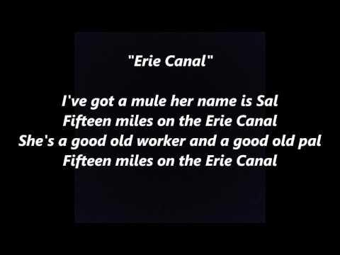 Low Bridge Everybody Down 15 Fifteen Years MILES Erie Canal Mule Named Sal words lyrics SONG
