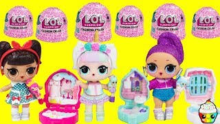 LOL Fashion Crush Shoppie Dolls Come To Life Unicorn, Kansas QT, Bling Queen, As If Baby