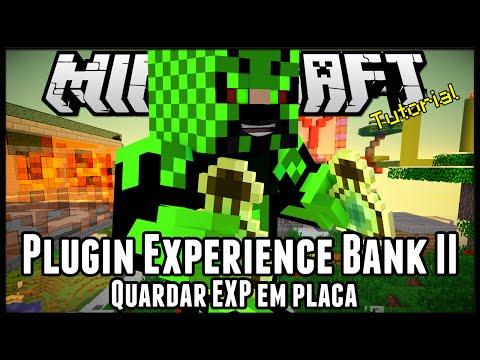 Plugin Experience Bank II - Guardar EXP em placa Minecraft