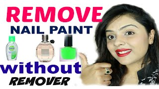 *TOP 3 WAYS* to remove nail polish without remover |Tanutalks|