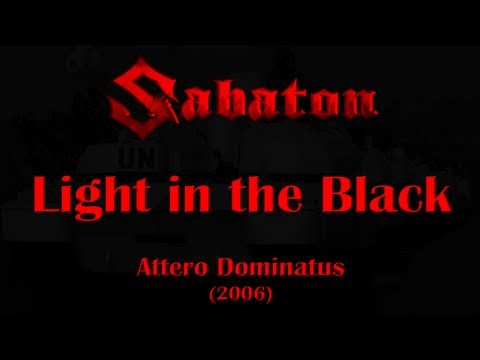Sabaton - Light In The Black