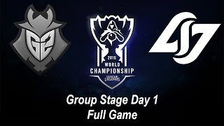 G2 vs CLG | Group Stage Day 1 | World Championship 2016 League of Legends