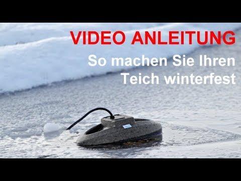 Überwinterung Von Teichpumpe, Teichfilter, Gartenteich, Eisfreihalter. Video-Info Beachten!