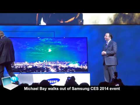 Michael Bay walks out of Samsung CES 2014 event