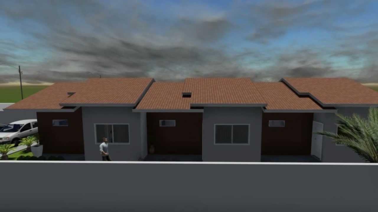 Casas geminadas miragem 3d