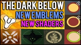 Destiny: New Emblems, Shaders, New Vendor Location, and Faction Leaked for The Dark Below DLC!