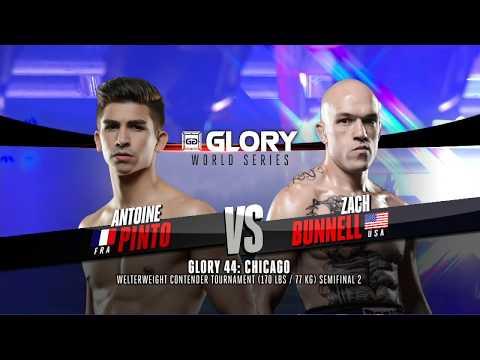 FULL MATCH - Antoine Pinto vs. Zach Bunnell - Tournament Semi-finals: GLORY 44 Chicago