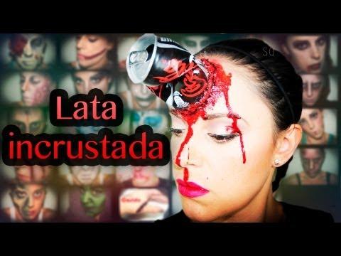 Maquillaje Halloween: Lata incrustada en la frente, efectos especiales | Silvia Quiros
