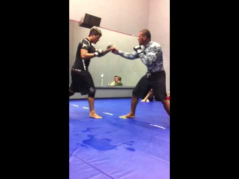 KJ Kama & Desi Dirty Boxing Warm Ups @ MMA BJJ Image 1
