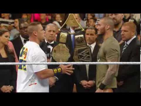 John Cena Vs Randy Orton Big Fight In Wwe Raw video