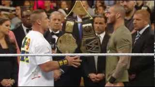 John Cena vs Randy Orton BIG FIGHT in WWE RAW