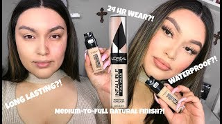ALL DAY WEAR TEST || NEW LOREAL FRESH WEAR FOUNDATION + LOREAL FULL WEAR CONCEALER
