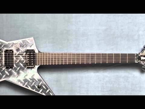 Dimebag Darrell's Washburn diamondplate guitar from Pantera's 2000 tour.