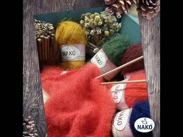 Обзор пряжи Nako Paris . Вязание .Вязание спицами.Рынашко