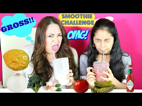 Smoothie Challenge!! With Mommy-Extreme Gross Food Challenge | B2cutecupcakes
