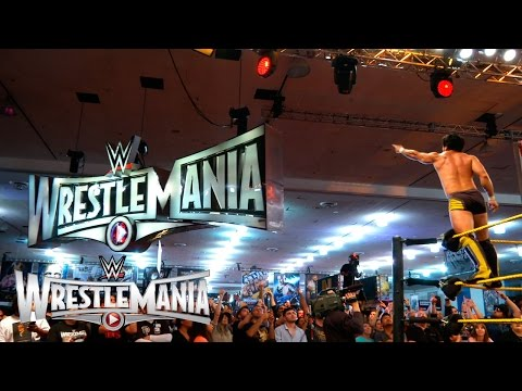 Hideo Itami reacts to his impending WrestleMania debut