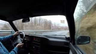 Driving around on a slippery day with my Alfa 75 2.0 Twin Spark