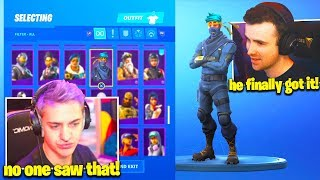 Streamers *SHOCKED* NINJA *LEAKS* NEW SKIN BUNDLE in Fortnite LIVE!