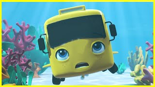 Buster In The Ocean | Go Buster | Baby Cartoons | Kids Videos | ABCs and 123s