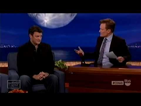 Nathan Fillion in Conan Show June 12 2013 Promoting Much Ado About Nothing & Monster University