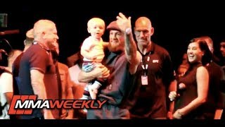 Conor McGregor's Baby Steals the Spotlight at the UFC 229 Open Workouts