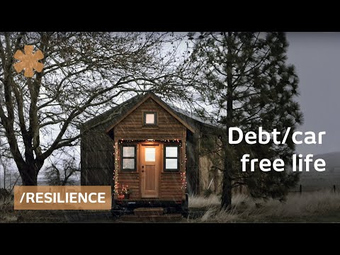 Debt/car-free tiny house couple: simple living + resilience