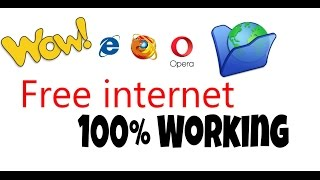 Best unlimited Free Internet in youe pc  2017-2018