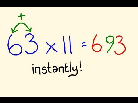 Times table trick elevens fast mental multiplication for 11 times table trick