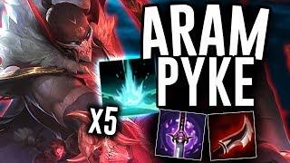PYKE ULTIMATE RESETS ARE OP IN ARAM - Pyke ARAM - League of Legends