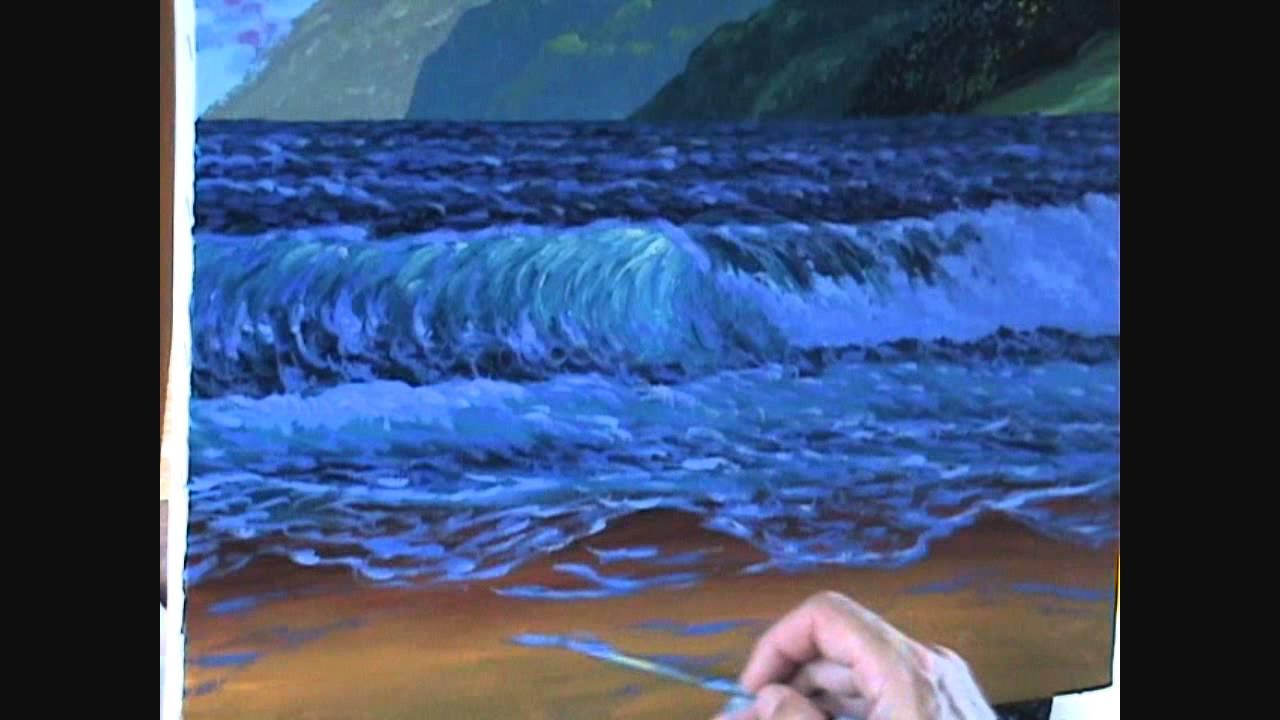 V1 deel 14 schilderen een strand en bergen bij zonsondergang youtube - Hoe om te schilderen een trap ...