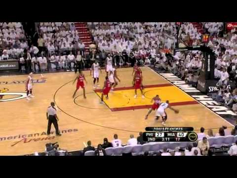 Miami Heat vs Philadelphia 76ers (94 - 73) April 18, 2011 (PlayOff 1st round)
