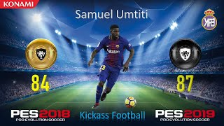 PES 2019 Official Player Upgrades & Downgrades by KONAMI || PART 1