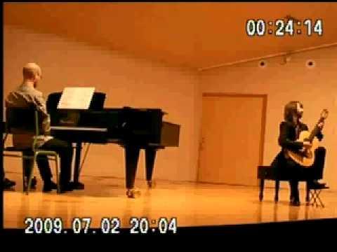 concierto de aranjuez 2ºmov. Pablo Rodríguez guitar, Miguel Valls piano