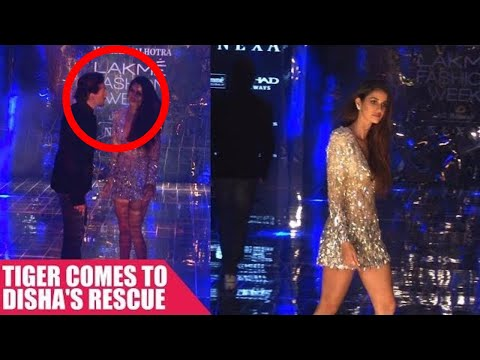 Tiger Shroff Saves Disha Patani From An Awkward Moment