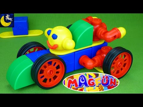 Magfun Magnetic Building Blocks Toys for Kids Create Cars, a Motorcycle, Helicopter MagnetsToys!