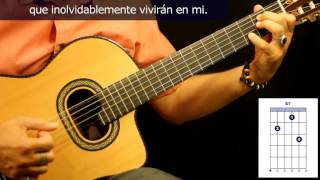 "Cómo tocar ""Inolvidable"" en guitarra, de Julio Gutiérrez / How to play ""Inolvidable"" on guitar"