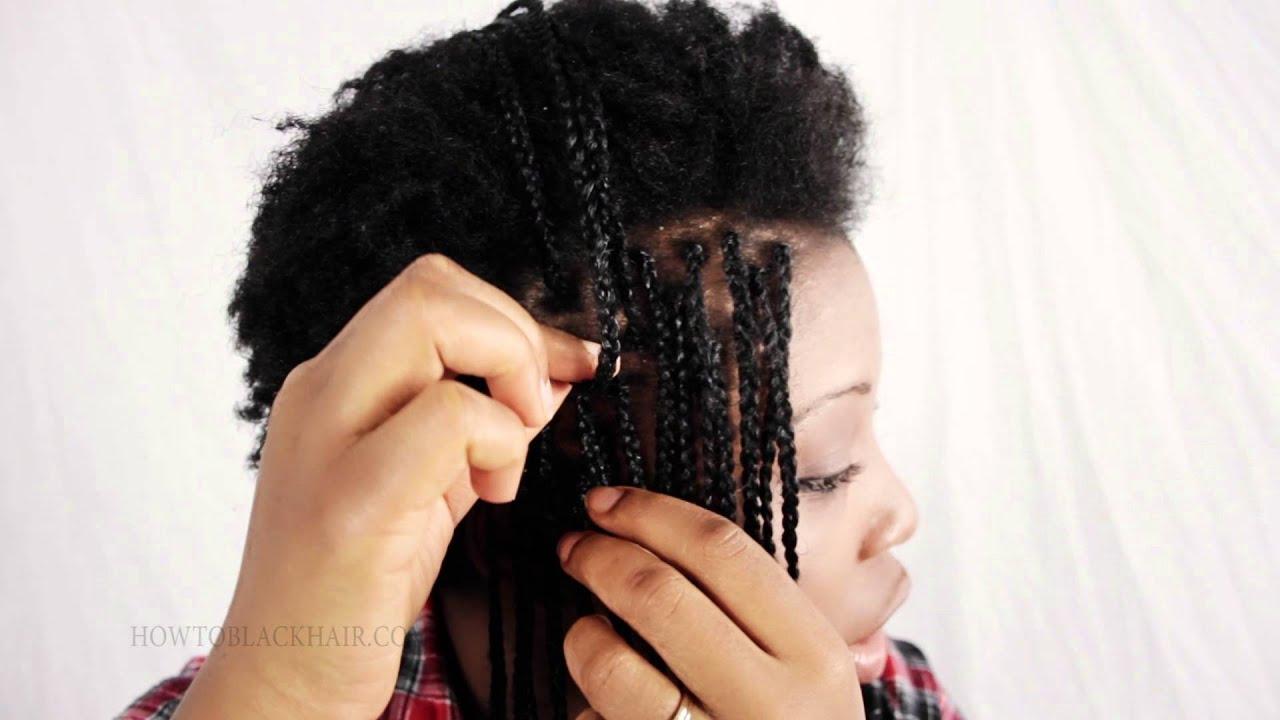 Box Braids On Natural Hair Tutorial