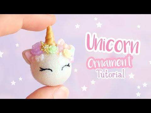 DIY Pastel Unicorn Ornament│Polymer Clay Tutorial