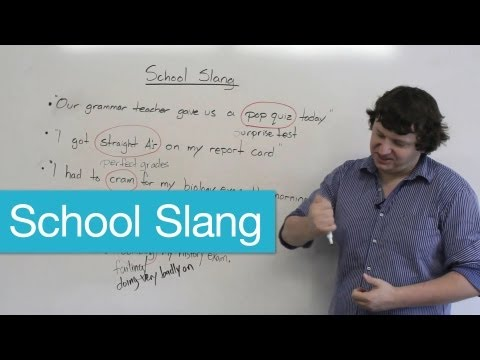 English Vocabulary – School Slang