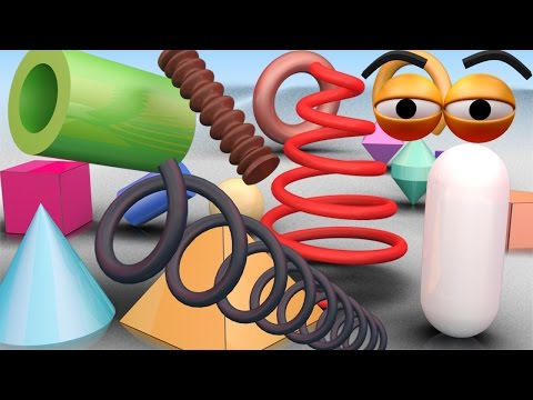 VIDS for KIDS in 3d (HD) - Learn about Shapes and Geometry for Children - AApV