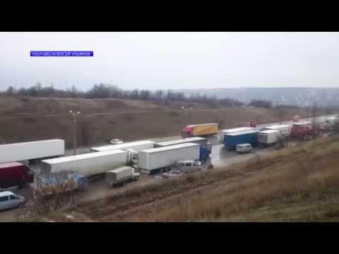 Дальнобойщики, примкнувшие в «антиплатоновской» акции, прибыли в Москву