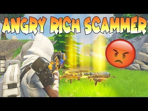 Angry Rich Scammer Scammed Himself (Scammer Gets Scammed) Fortnite Save The World